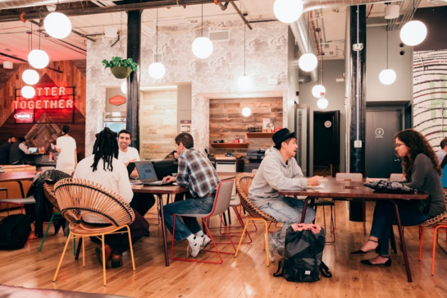 Inside WeWork's Holyoke location in Seattle.