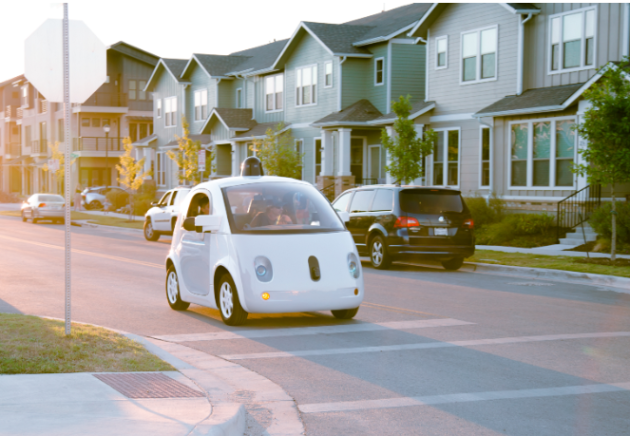Photo via Medium/Google Self-driving car project.