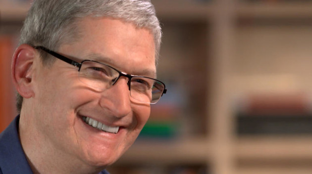 Tim Cook. Photo via CBS News/60 Minutes