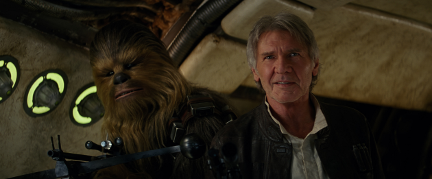 Chewbacca and Han Solo are back in Star Wars: The Force Awaken. Photo: StarWars.com