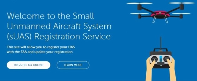 Drone registration page