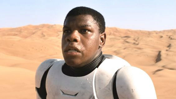 John Boyega as Finn in the first trailer for 'Star Wars: The Force Awakens'