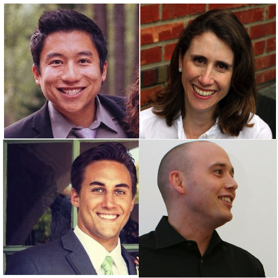 (Clockwise from upper left: miPS Labs co-founders Alex Jiao, Jenna Strully, Edward Whalen and Rob Thomas.