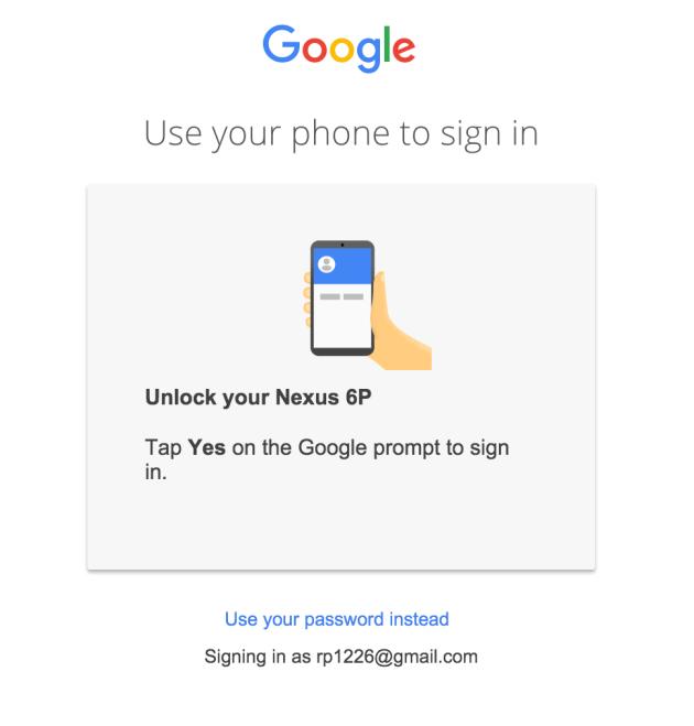 phone signin google
