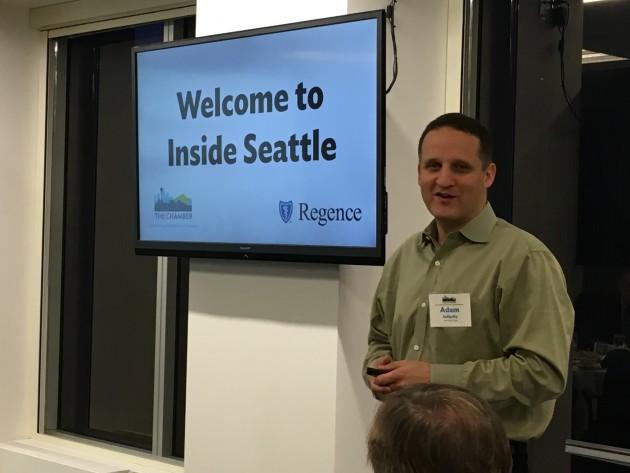 Adam Selipsky, an AWS veteran, speaks at the Inside Seattle breakfast event.