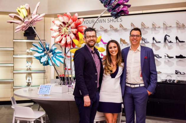 Shoes of Prey co-founders Mike Knapp, Jodie Fox and Michael Fox at one of the six Nordstrom Design Studios in the US
