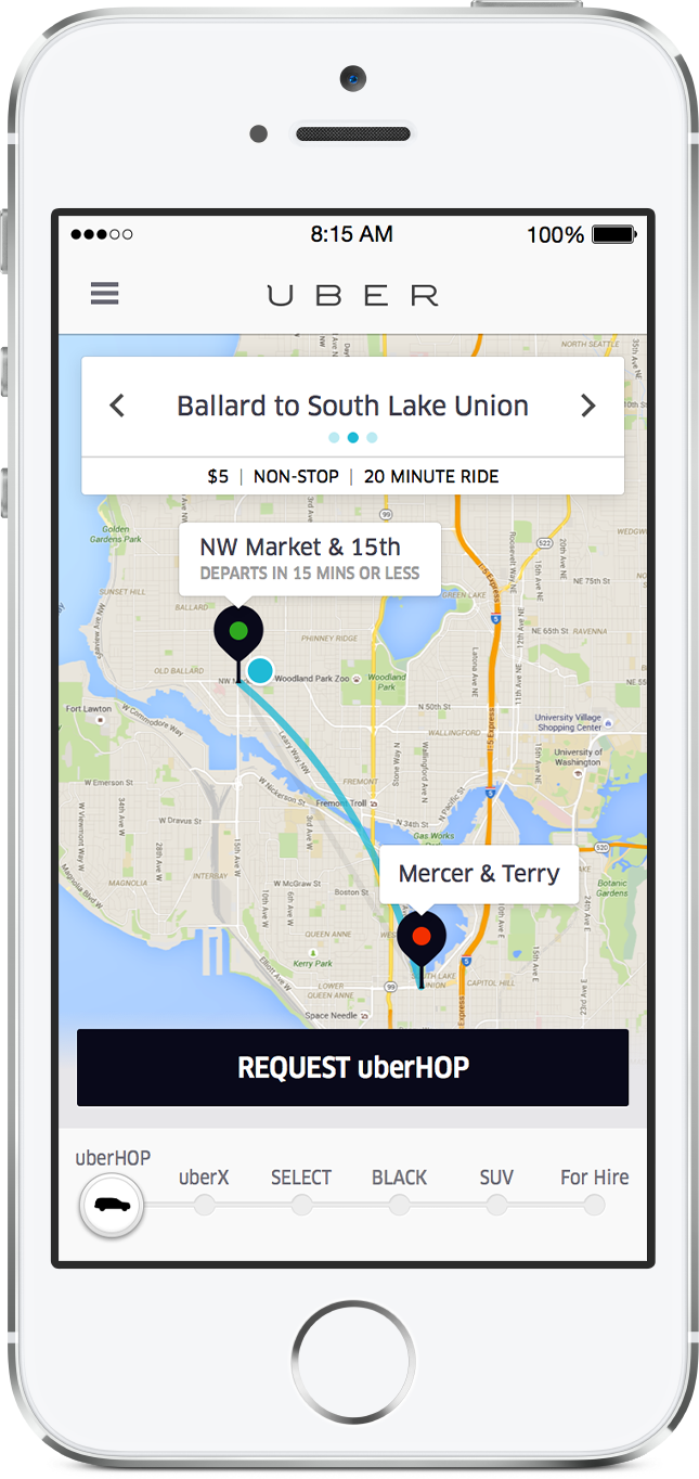 Uber to test new carpooling service 'uberHOP' in Seattle ...