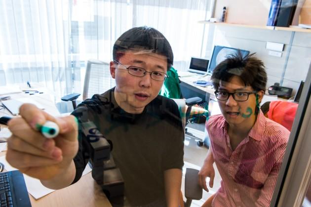 Editas' Feng Zhang with student