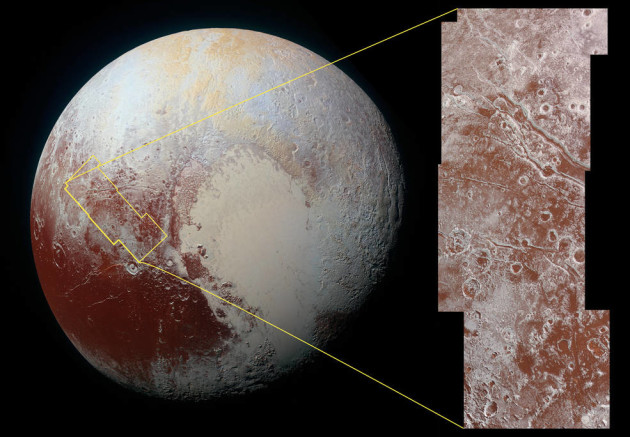 Color view of Viking Terra on Pluto
