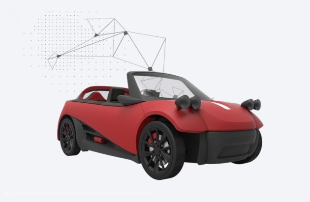 LM3D Swim 3-D printed car