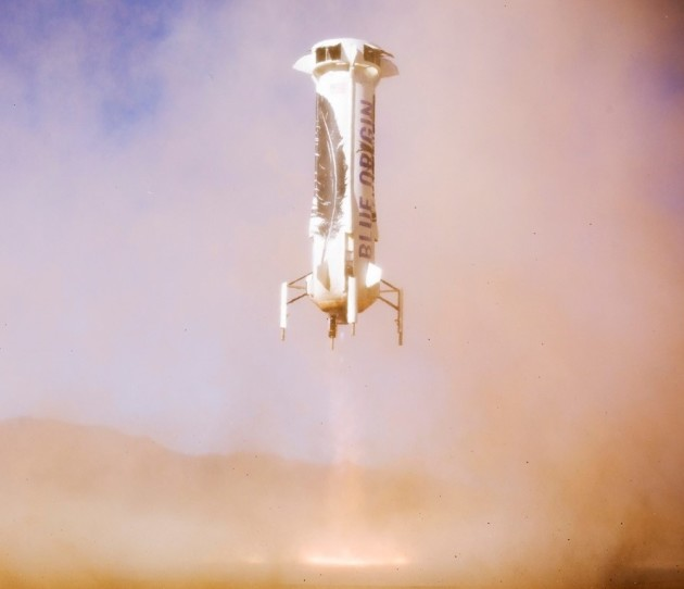 Blue Origin New Shepard landing