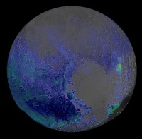 Water concentration map of Pluto