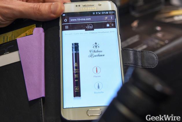 D-Vine smartphone app uses RFID tags on wine flasks to identify vintage
