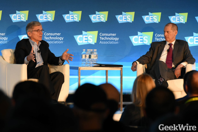 FCC Chairman Tom Wheeler and CTA President Gary Shapiro at CES 2016
