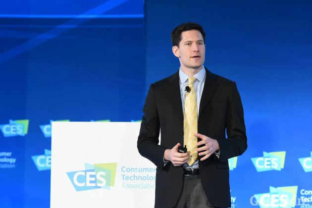 City of Seattle CTO Michael Mattmiller at CES 2016. (GeekWire File Photo.)