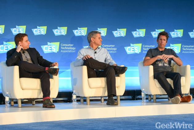 Stewart Butterfield, Steve Case & Nick Woodman at CES 2016