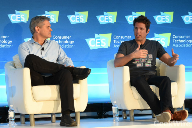 Steve Case and Nick Wooman at CES 2016
