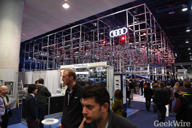 Audi booth at CES 2016