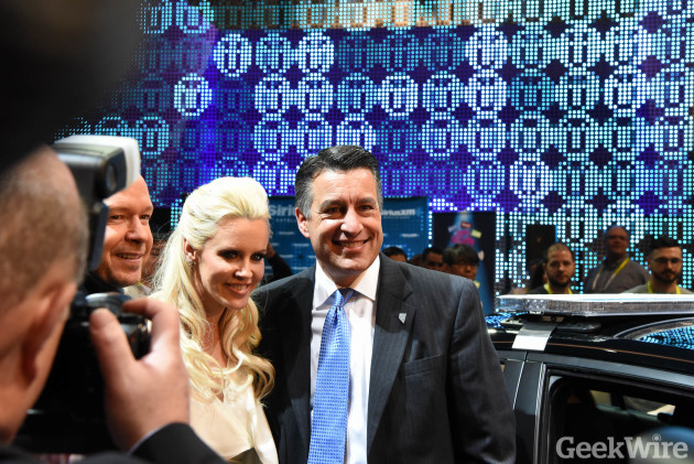 Jenny McCarthy and Nevada Governor Brian Sandoval at FCA exhibit