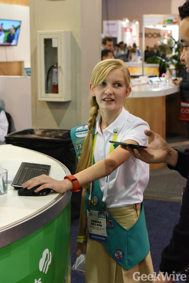 11-year old Girl Scout Annika demos Digital Cookie 2.0 at CES 2016