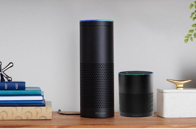 GeekWire illustration of the potential size of a mini Amazon Echo, compared to a full-size version