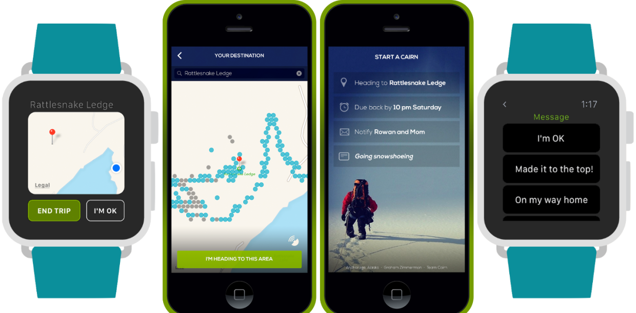 Hiking safety app Cairn is creating a cell coverage map for the wilderness