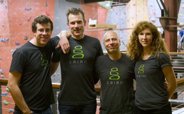 The Cairn team includes, from the left, Nick Neiman, Graham Zimmerman, Ali Alami and Tove Martin. Image via Cairn