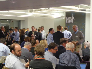 More than 200 startup reps and entrepreneurs attended the Reverse Pitch day that kicked off the Anchor Partner Pilot Program. Photo by Clare McGrane.