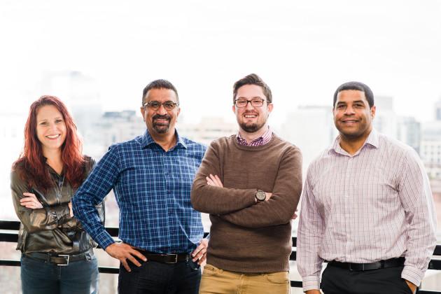 The Elevate Capital team: Robin Jones, Nitin Rai, Eric Boothe, and Stephen Green. Photo via Elevate.