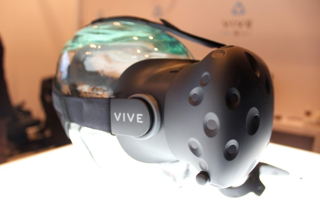 The newest HTC Vive, spotted at CES in Las Vegas last week.