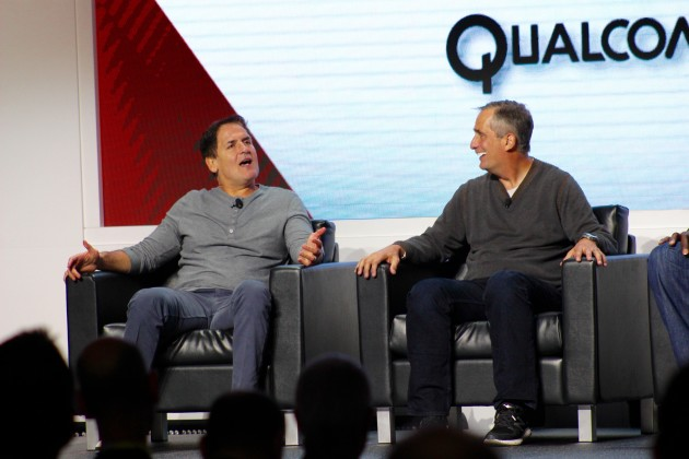 Mark Cuban and Brian Krzanich at CES 2016.