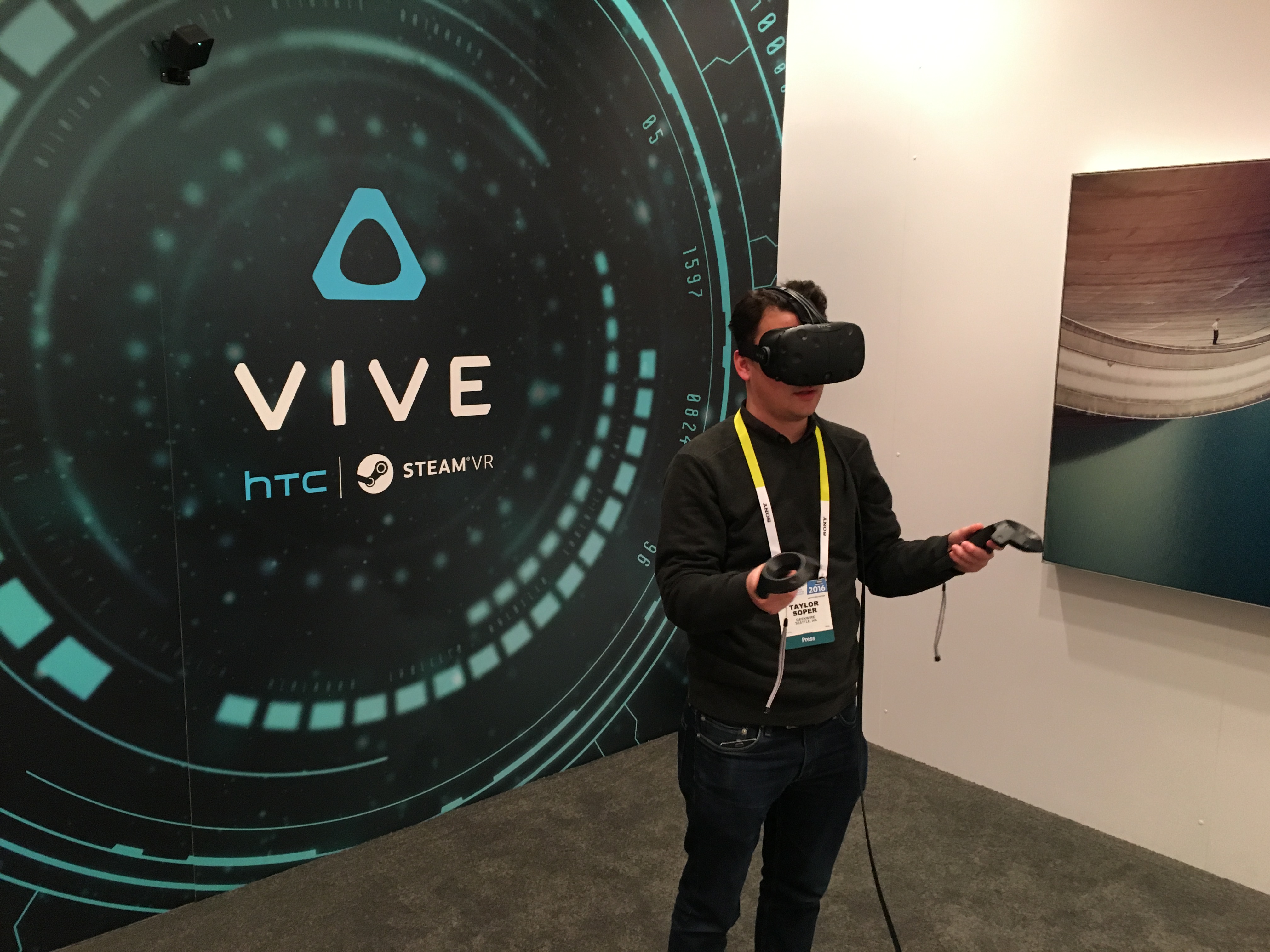 Testing the newest HTC Vive, the best virtual reality