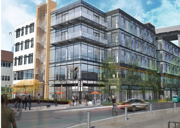 A rendering of Tableau's new 110,000 square-foot Fremont office.