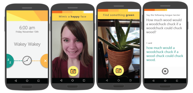 You better be okay with bed-head selfies if you download Microsoft's latest Android app. Image via Microsoft.