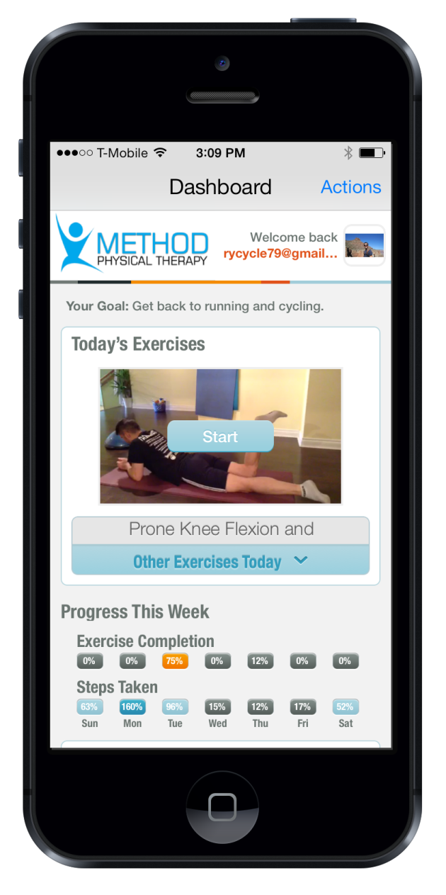 Patients can use the app for things like watching videos on how to do physical therapy exercises and keeping track of medication.