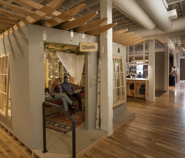 Inside Airbnb's Portland office. Photo via Airbnb.