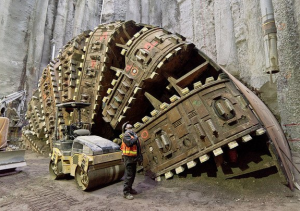 Bertha machine in December 2015