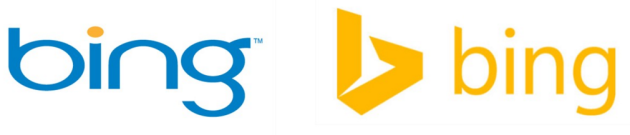 The original logo, left, and an update that was made in 2013.