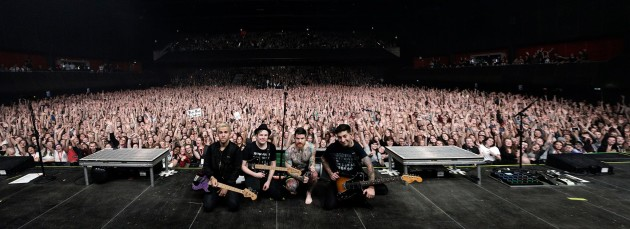 Can Amazon top this crowd? Fall Out Boy in Amsterdam last fall. (Fall Out Boy via Facebook)