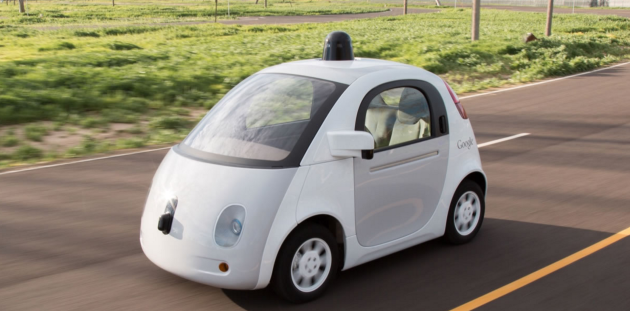 Google's self driving car project. Photo via Google.