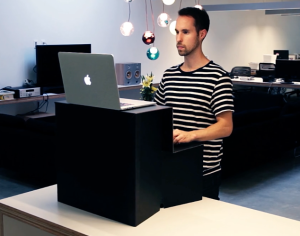 An Ori is designed to sit atop a traditional desk. (Oristand via Vimeo)