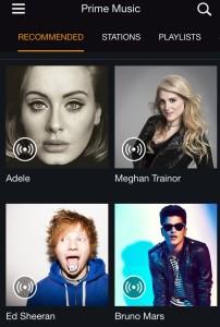 Amazon's Prime Music, via iOS app. (GeekWire)