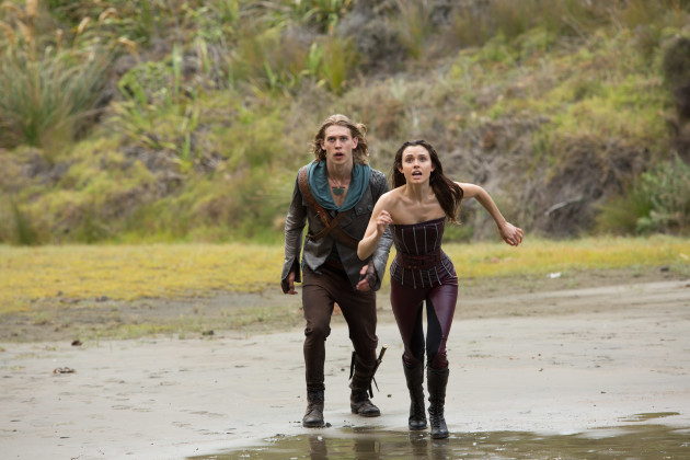 Wil (Austin Butler) and Amberle (Poppy Drayton) Faceoff With A Demon. Photo via MTV.