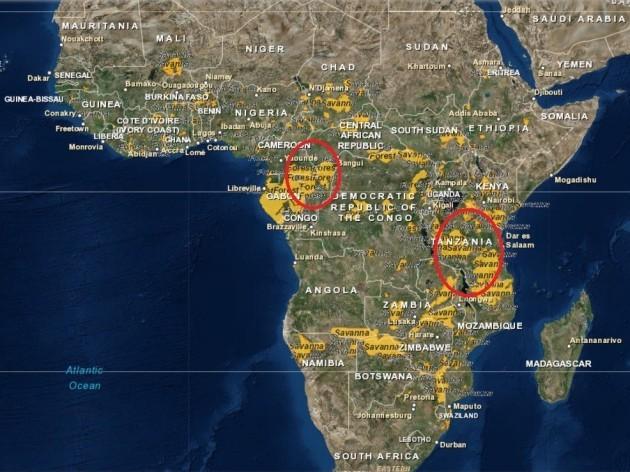 Elephant hotspot map