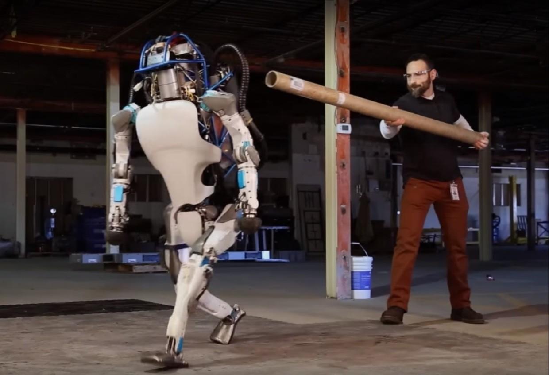 Atlas robot pushed