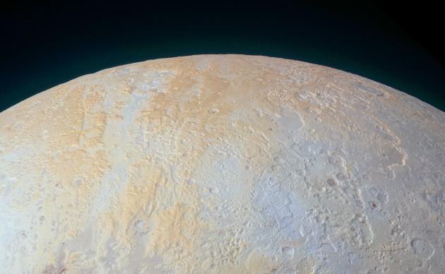 Pluto north polar region