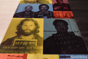 Celebrity mug shot carpet at Avvo's office