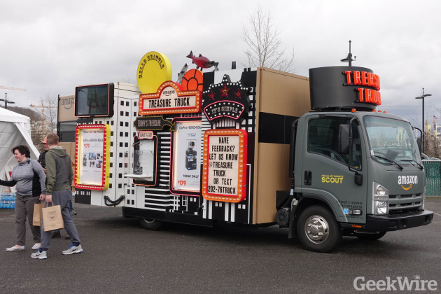 Amazon Treasure Truck debuts in Seattle's South Lake Union