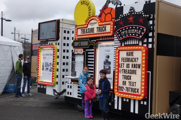 Photo opp in front of the Treasure Truck