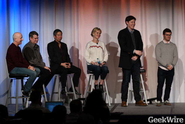 Former Microsoft executive and Andreessen Horowitz board partner Steven Sinofsky; Madrona Venture Group Partner Greg Gottesman; angel investor and co-founder of BuddyTV Andy Liu; and Indix executive/angel investor Heather Redman.